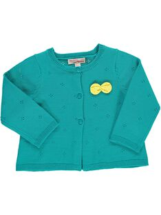 Girls' knitted cardigan CIJOGIL6B / 18SG09R8CAR202