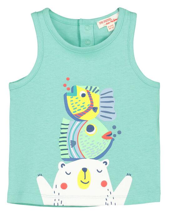 Baby boys' printed vest FUCUDEB / 19SG10N1DEBG606