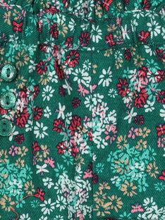 Baby girls' floral print shorts GIVESHO / 19WG0921SHOG627