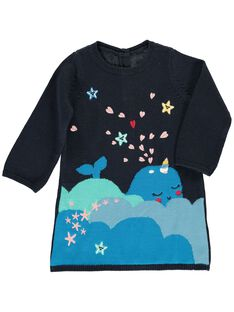 Baby girls' cotton knit dress DINAUROB1 / 18WG09G1ROB705