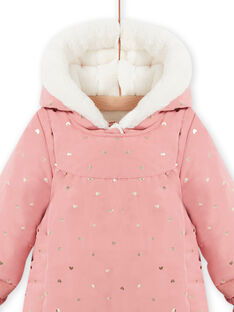 Baby girl pink hoodie with polka dots MIKAPIL / 21WG0961PIL303