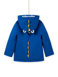 Blue raincoat with crocodile pattern for boys MOGROIMP2 / 21W90252D59217