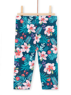 Baby girl blue and pink leggings LYIBONLEG / 21SI09W1CAL716