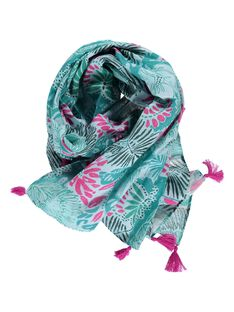 Girls' tropical print scarf CYADOUFOUL / 18SI01J1FOU099
