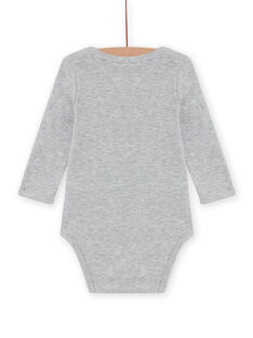 Baby boy grey hedgehog bodysuit with long sleeves MEGABODSON / 21WH14C5BDLJ922