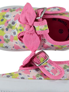 Baby girls' canvas T-bar shoes FBFSALCER / 19SK37C1D17030
