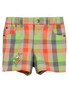 Baby boys' checked shorts FUYEBER3 / 19SG10M3BER099