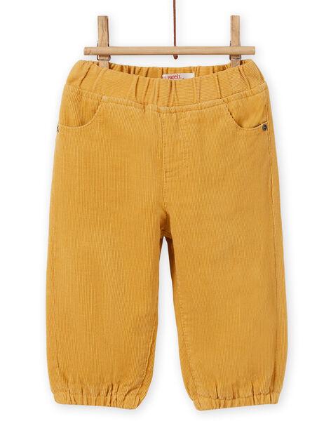 Baby Boy's Yellow Corduroy Pants MUJOPAN2 / 21WG1013PAN117