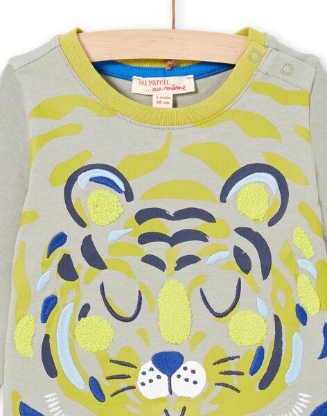 Baby Boy's Green and Khaki T-Shirt MUKATEE3 / 21WG10I1TMLG622