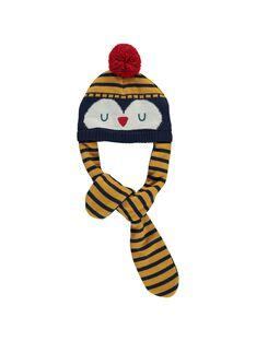 Baby boys' hat and scarf DYUNAUBON / 18WI10G1BON713