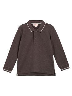 Dark grey Polo shirt GOJOPOL2 / 19W90234D2D944