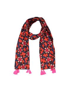 Girls' fancy print scarf FYABAFOUL / 19SI0161FOU099