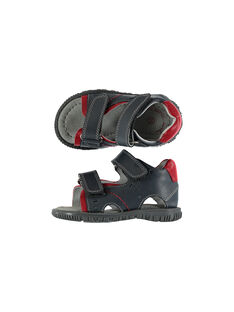 Baby boys' smart leather sandals. FBGSANDAT / 19SK38K3D0E940
