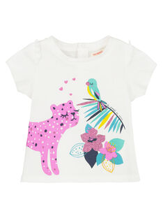 Baby girls' short-sleeved T-shirt FITUTI1 / 19SG09F1TMCA001
