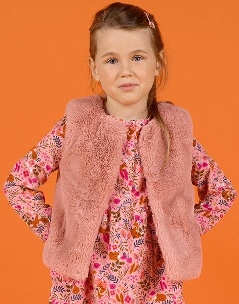 Girl's reversible faux fur sleeveless vest MASAUCAR1 / 21W901P2CAR303