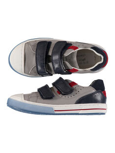 Boys? smart trainers in two fabrics. FGBASGREY / 19SK3641D3F940