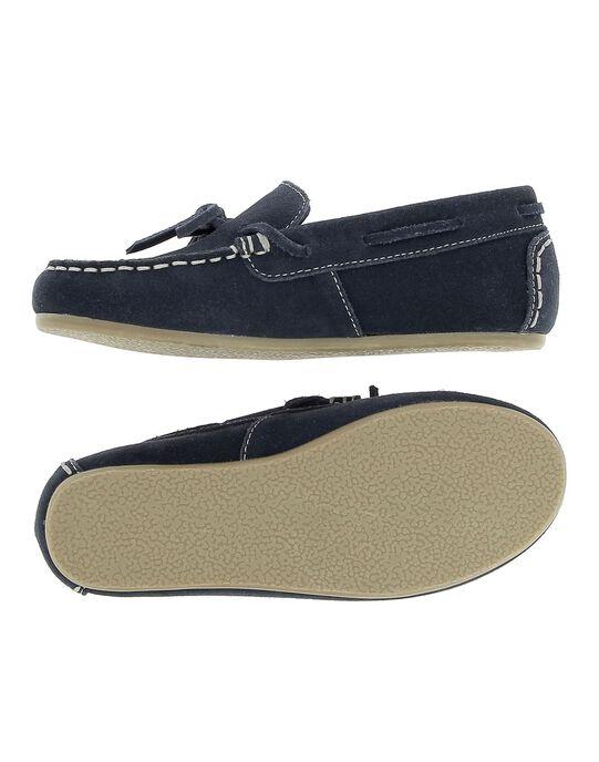 Boys' split leather moccasins CGBATMOC / 18SK36W4D4NC218
