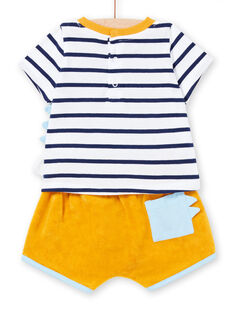 Baby boy terry shorts and jersey T-shirt set LUPLAENS1 / 21SG10T2ENS000