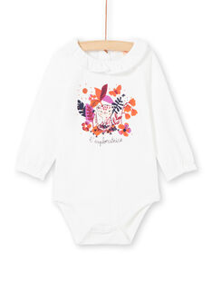 Baby Girl White and Colored Bodysuit MIPABOD / 21WG09H2BOD001