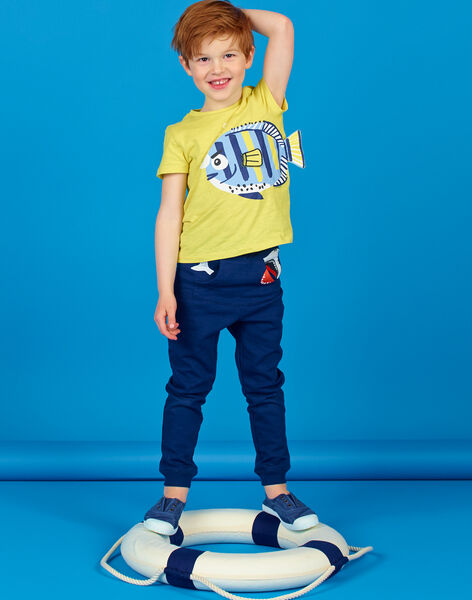 Yellow t-shirt with 3D animation - Child Boy LONAUTI2 / 21S902P3TMCB102