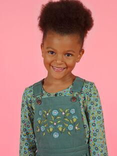 Girl's khaki overalls dress MAKAROB4 / 21W901I4ROB626
