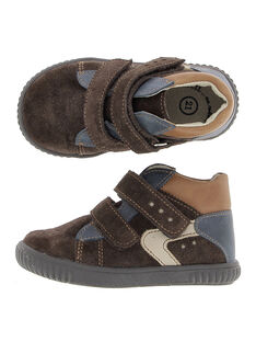 Baby boys' leather city trainers. DBGBASBEL1 / 18WK38T1D3F802