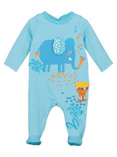 Baby boys' elephant sleepsuit FEGAGREJAI / 19SH14H1GREC216