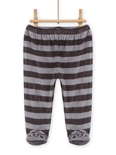 Baby boy soft boa pajama set with raccoon design MEGAPYJEUR / 21WH1491PYJ001