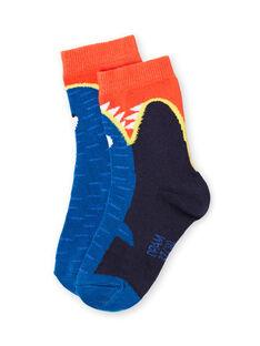 Blue socks baby boy LYONAUCHO1 / 21SI02P1SOQC228