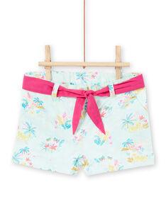 Baby girl blue shorts LIVERSHO / 21SG09Q1SHOG622