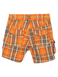 Boys' checked shorts FOYEBER4 / 19S902M1BERF519