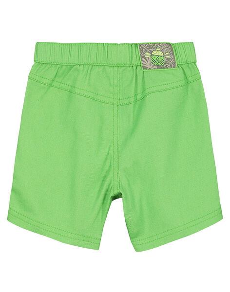 Baby boys' green shorts FUYEBER1 / 19SG10M1BER603