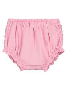 Baby girls' pink bloomers FIJOBLOO7 / 19SG09G2BLRD303