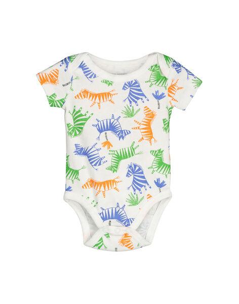 Baby boys' short-sleeved bodysuit FEGABODZEB / 19SH1452BDL099