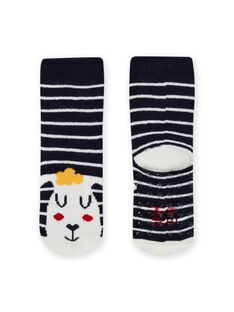 Baby boy's striped night blue socks with sheep design MYUMIXCHO2 / 21WI10J1SOQ713