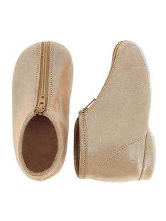 Baby girls' leather slippers CBFBOBEBE / 18SK37X6D0A030