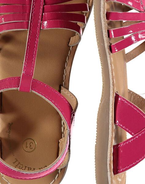 Girls' smart patent leather sandals FFSANDOLI2 / 19SK35C5D0E304