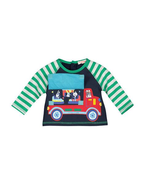 Baby boys' fleece sweatshirt FUCOSWE / 19SG1081SWE705