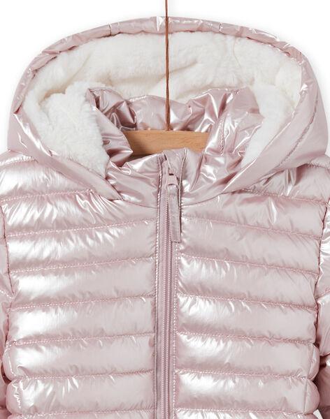 Metallic pink waterproof jacket, child girl MALONDOUN1 / 21W90158D3ED300
