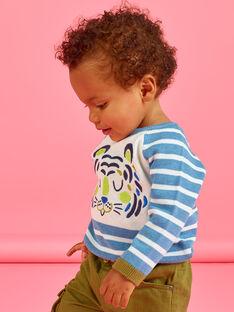 Baby boy sky and white sweater MUKAPUL / 21WG10I1PUL020