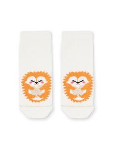 Baby girl ecru socks LYIPOECHO / 21SI09Y1SOQ001