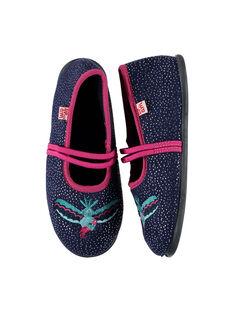 Girls' ballet pump slippers FFBALPLU / 19SK3535D07070