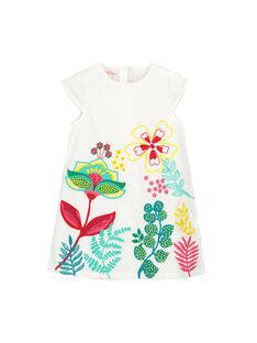 Girls' fancy white dress FACAROB4 / 19S901D4ROB000