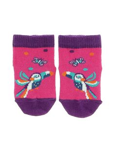 Baby girls' mid length socks CYIGAUCHO / 18SI09L3SOQ304