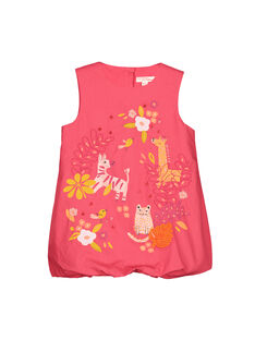 Baby girls' cotton bouffant dress FIBAROB2 / 19SG0962ROB308