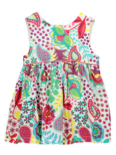 Baby girls' printed sleeveless dress FICAROB1 / 19SG09D1ROB000