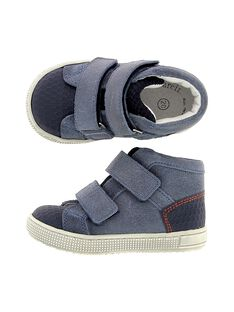Baby boys' leather city trainers. CBGBASCAP / 18SK38W3D3FC218