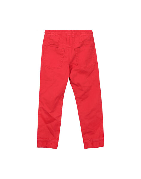 Boys' red canvas trousers FOJOPANT3 / 19S90237D2BF505