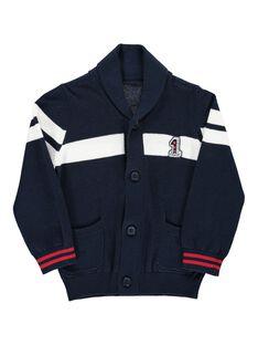 Boys' shawl collar cardigan CODEGIL / 18S902F1GIL705