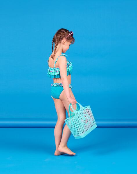 Baby girl turquoise 2-piece swimsuit LYABIK2 / 21SI01DCMAIG621